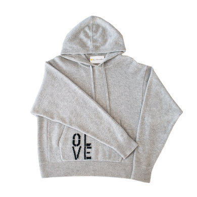 Oversized Cashmere Hoodie - Olive You