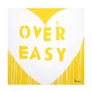 Love Over Easy Drippy Heart Art Print