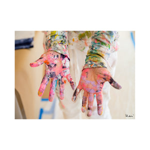 Paint On My Hands Love In My Heart Art Print