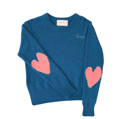 Patchwork Love Cashmere - Cali Blue + Dusty Pink