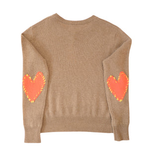 Patchwork Love Cashmere - Coco + Vermillion