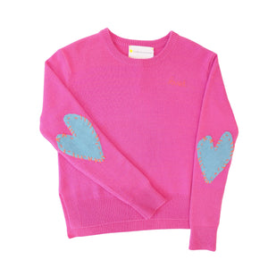 Patchwork Love Cashmere - Pop Pink + Dusty Blue