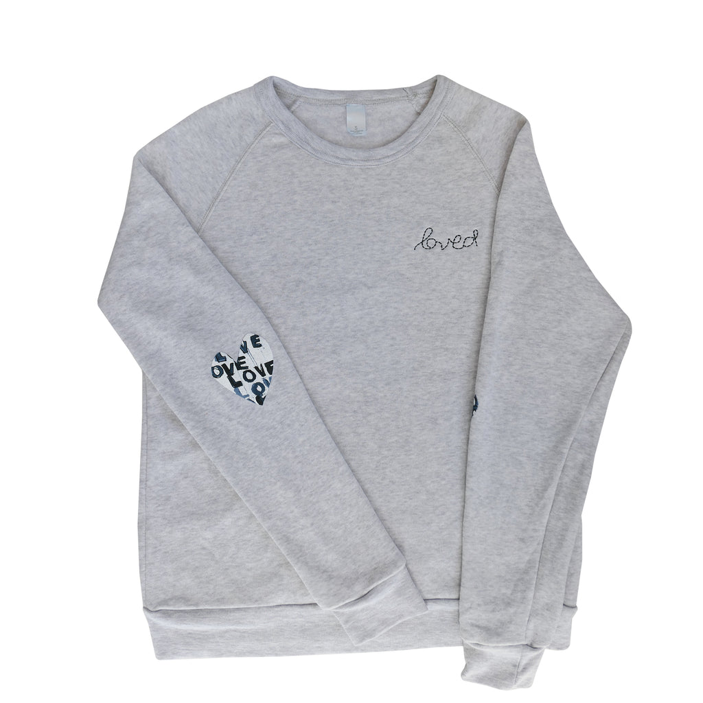 Patch Love Sweatshirt - Love Letters Blue