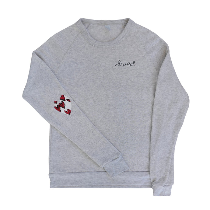 Patch Love Sweatshirt - True Hearts