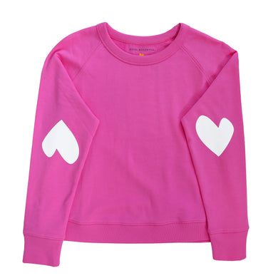 Imperfect Heart Sweatshirt Pop Pink/White