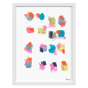 Playing Dominos Art Print