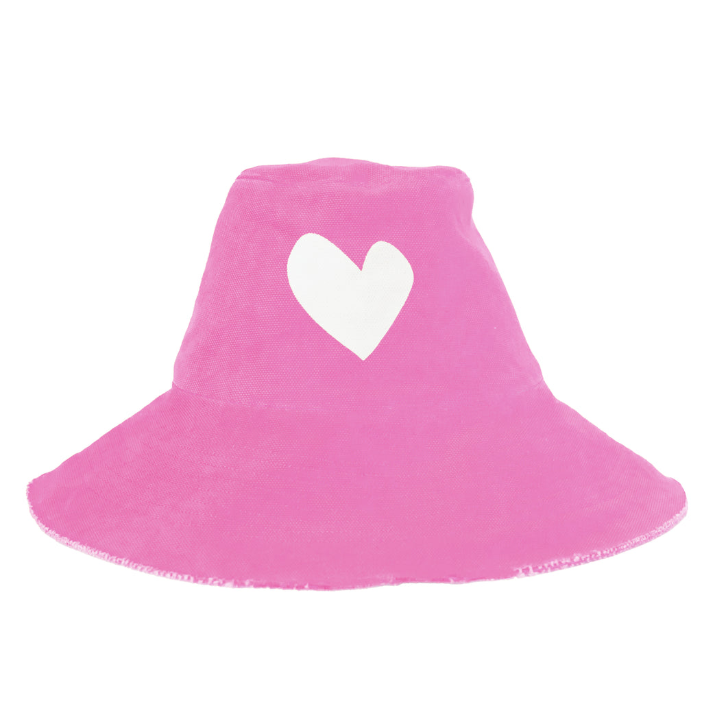 Sunny Daze Imperfect Heart Hat - Pop Pink