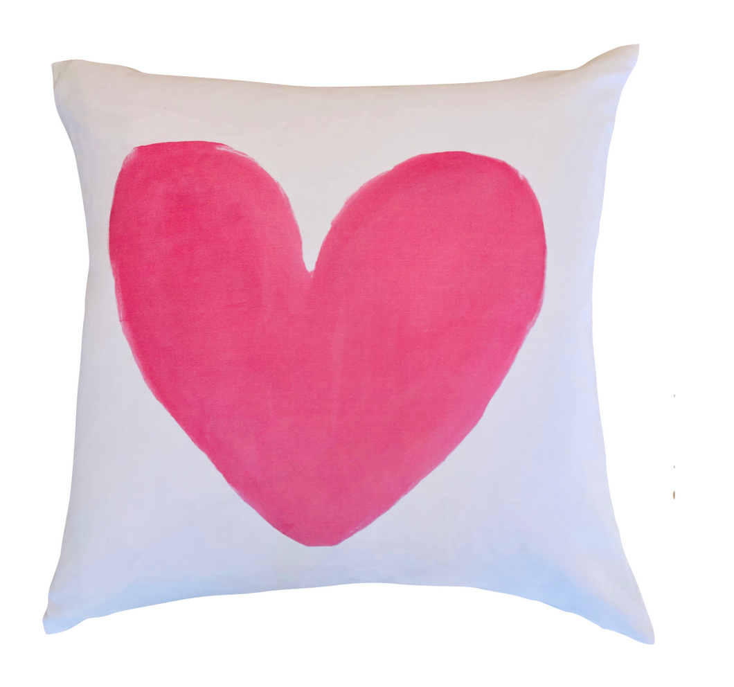 Always In My Heart Pop Pink Pillow