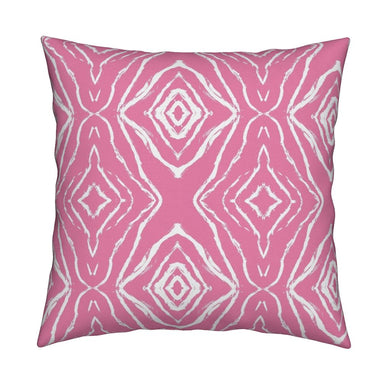 Seashells Reverse Pop Pink Pillow