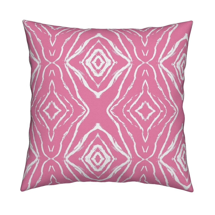 Seashells Reverse Pink Pillow