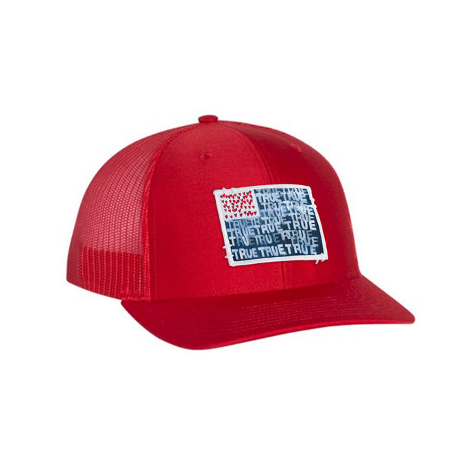 Red, White and True Trucker Hat Red