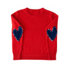 Patchwork Love Cashmere - London Red + Navy
