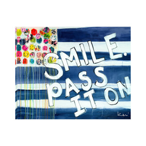 Smile Pass it On Flag Block of Love
