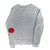 Patch Smiley Sweatshirt - Grey