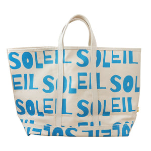 Soleil Turquoise Canvas Tote