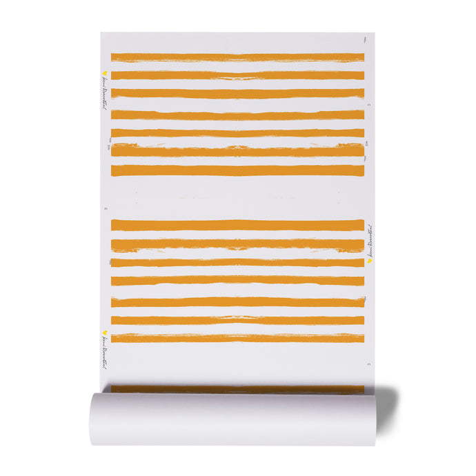 Stripe on Stripe Clementine Wallpaper