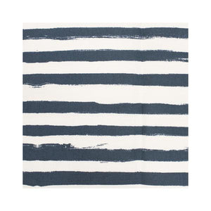 Stripe on Stripe Indigo Fabric