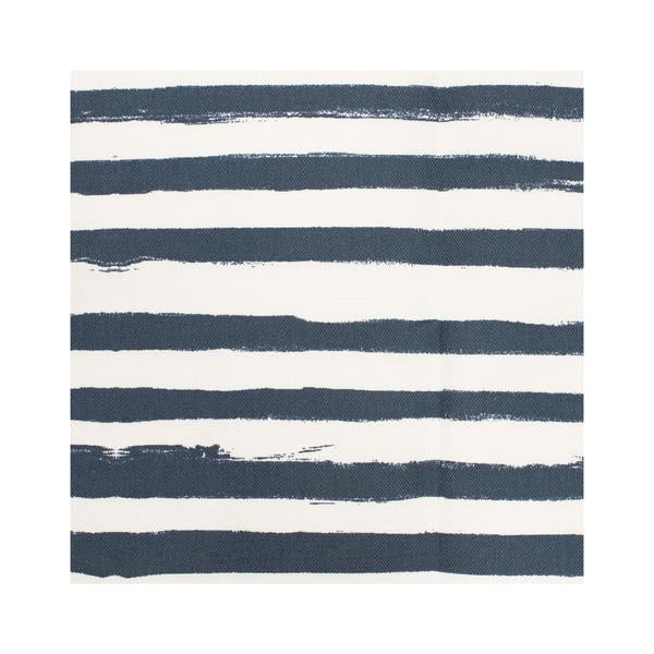 Stripe on Stripe Midnight Blue Fabric
