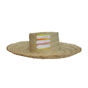 Summer Stripes Hand Painted Straw Hat