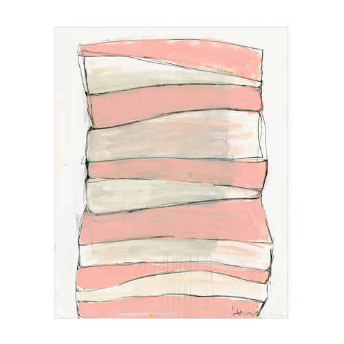 Summer Stripes Peach Art Print