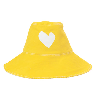 Sunny Daze Imperfect Heart Hat - Sunshine