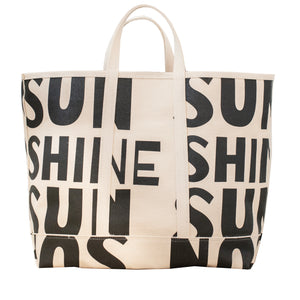 KR Beach Canvas Tote -  Sunshine Carbon