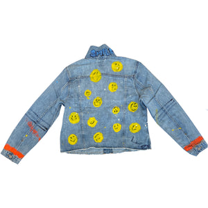Super Smiley Handpainted Denim Jacket