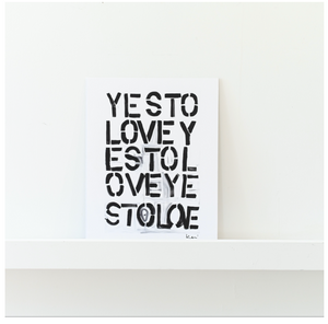 Yes To Love Mini Art Print