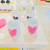 Drippy Heart Mug 11oz - Pink