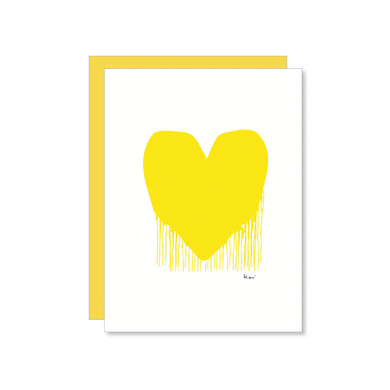Drippy Heart Card