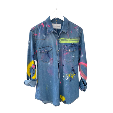 How Do You Really Feel Handpainted Denim Shirt