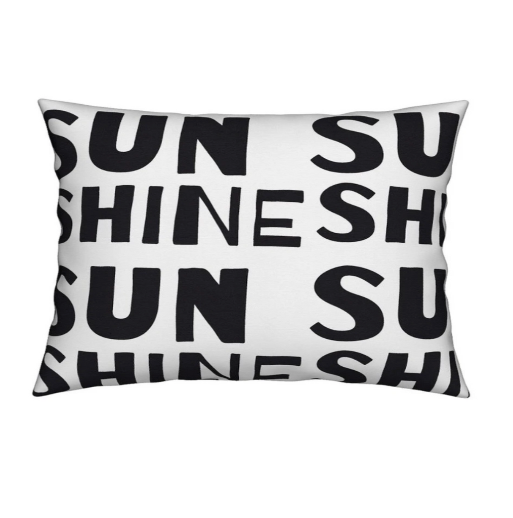 Headboard Pillow - Sunshine Carbon