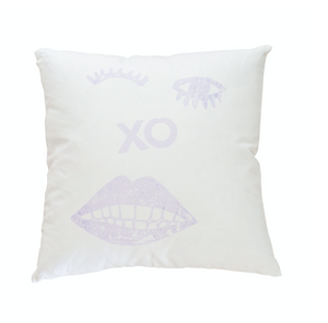 Kissy Winky Lilac Pillow