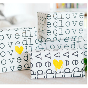 Loved Gift Wrap Roll