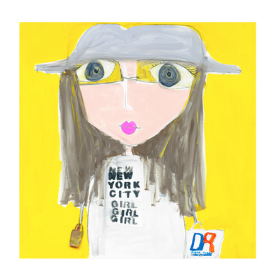 NYC Girl Art Print