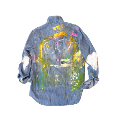 Salty Handpainted Denim Shirt