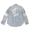 You Are A Handpainted Denim Shirt