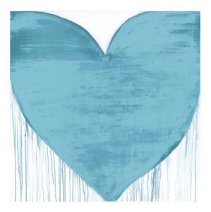 Oceans Of Love Drippy Heart Art Print