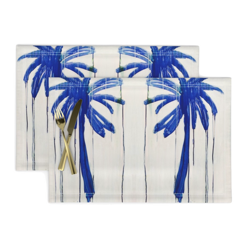 Indigo Palm Placemats