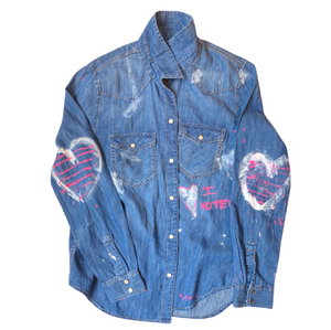 Vote Love  Denim Shirt