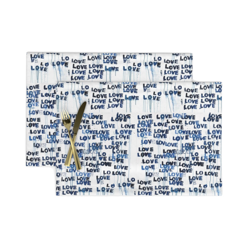 Love Lettter Blues Placemats