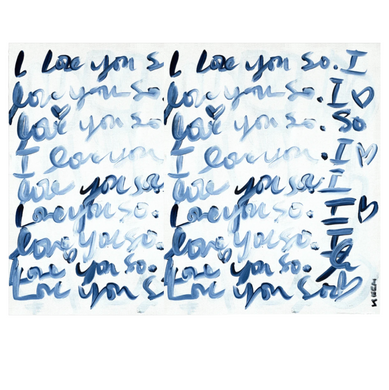 I love You So Horizontal Art Print