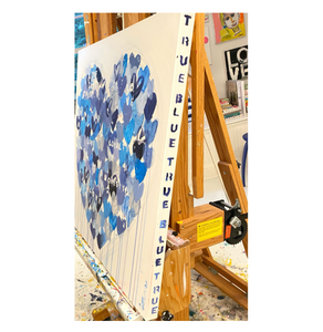 You Are Super Duper True Bllue Original Painting by Kerri Rosenthal