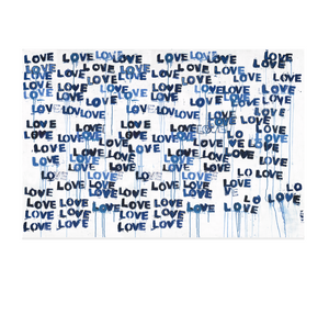 Love Letters Blues Horizontal  Art Print
