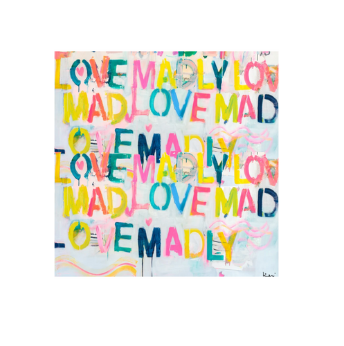Love Madly Square Art Print