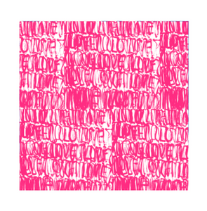 Love Actually Fabric - Pop Pink