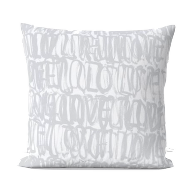 Love Actually Pillow - Dove Grey