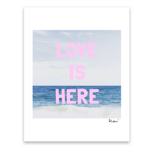 Love Is Here Beach Mini Art Print
