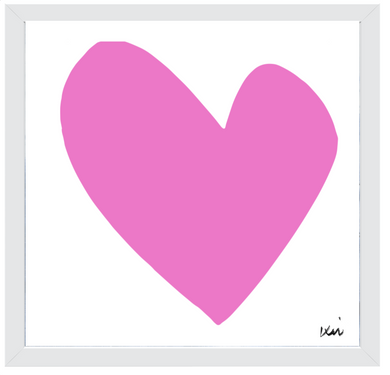 Imperfect Heart Art Print - Pop Pink