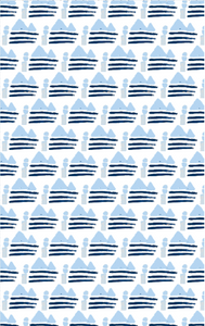 Sail Away Indigo Fabric